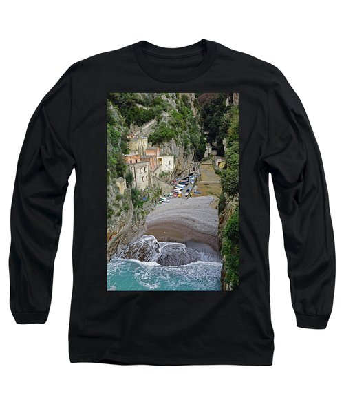 This Is A View Of Furore A Small Village Located On The Amalfi Coast In Italy  Long Sleeve T-Shirt