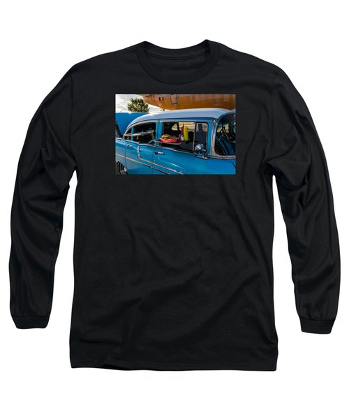 56 Chevy Long Sleeve T-Shirt by Jay Stockhaus