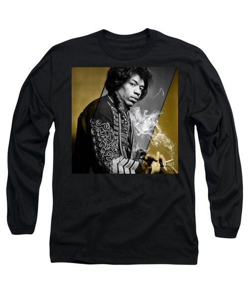Jimi Hendrix Collection Long Sleeve T-Shirt by Marvin Blaine