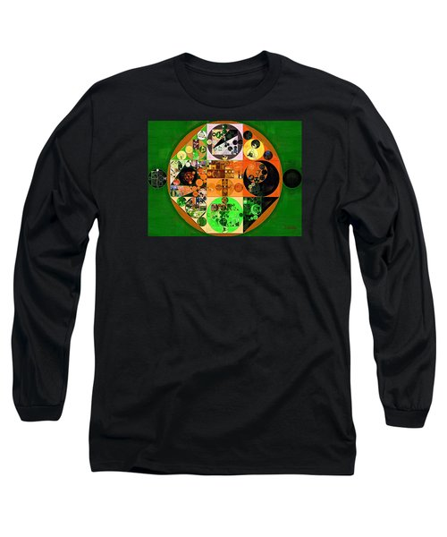 Long Sleeve T-Shirt featuring the digital art Abstract Painting - Lincoln Green by Vitaliy Gladkiy