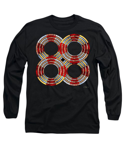 6 Concentric Rings X 4 Long Sleeve T-Shirt