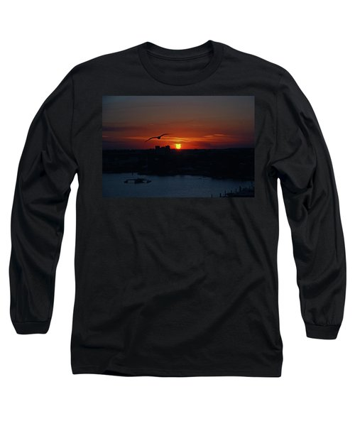 Long Sleeve T-Shirt featuring the photograph 6- Sunset by Joseph Keane
