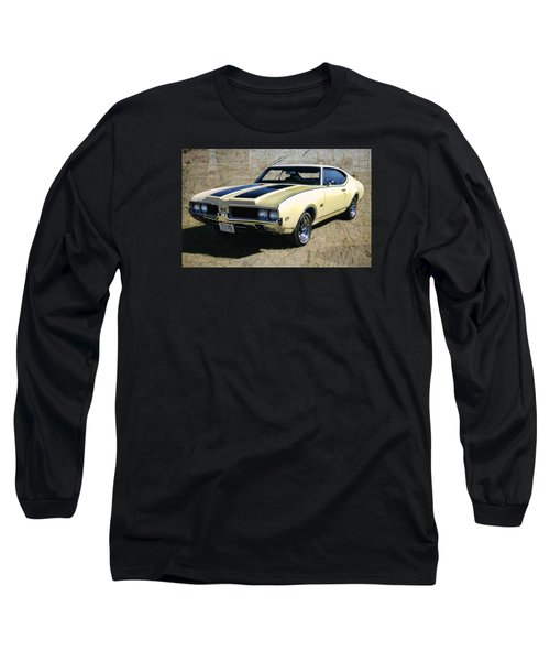 Long Sleeve T-Shirt featuring the photograph '69 Oldsmobile 442 by Victor Montgomery