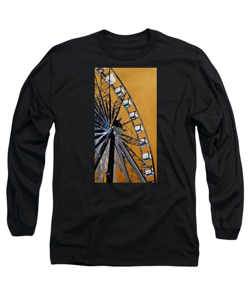 Long Sleeve T-Shirt featuring the photograph Ferris Wheel Impressions by Werner Lehmann
