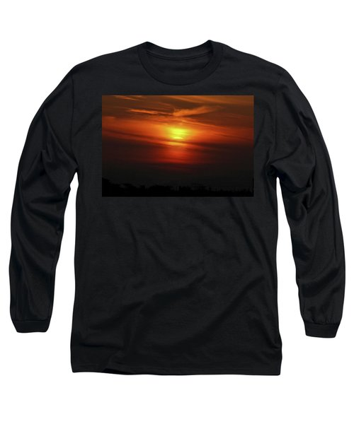 Long Sleeve T-Shirt featuring the photograph 7- Sunset by Joseph Keane