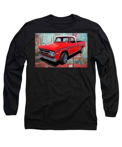 Long Sleeve T-Shirt featuring the photograph '70 Dodge Truck by Victor Montgomery