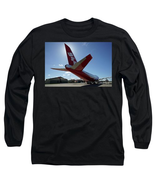 Long Sleeve T-Shirt featuring the photograph 747 Supertanker At Mcclellan by Bill Gabbert