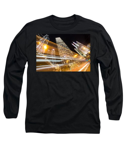 Hong Kong Night Rush Long Sleeve T-Shirt