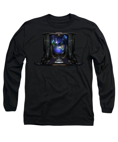 89-123-a9p2 Arsairian 7 Reporting Fractal Composition Long Sleeve T-Shirt by Xzendor7