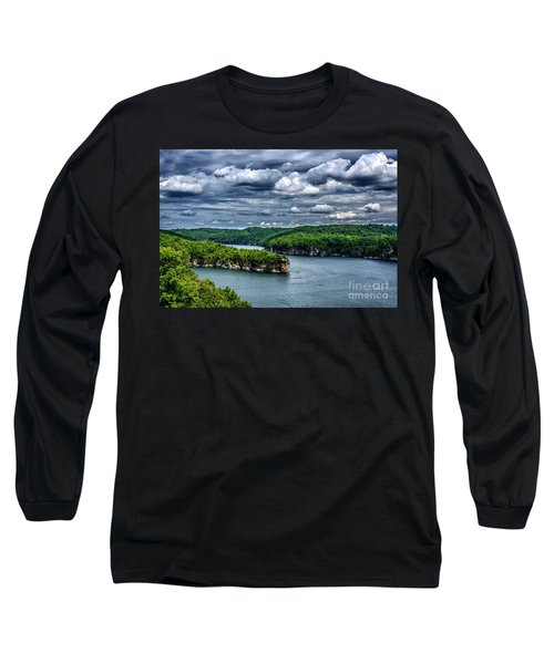 Long Point Summersville Lake Long Sleeve T-Shirt by Thomas R Fletcher