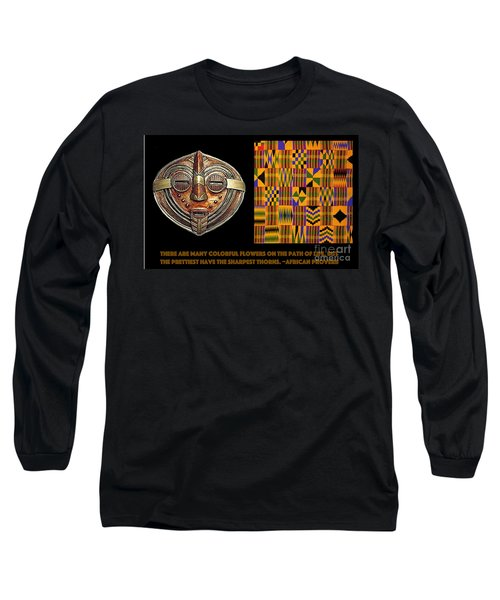 Long Sleeve T-Shirt featuring the digital art A  African Proverb by Jacqueline Lloyd