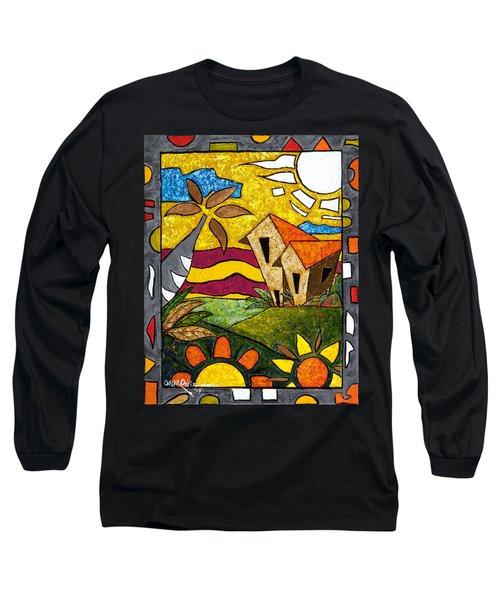 A Beautiful Day Long Sleeve T-Shirt by Oscar Ortiz