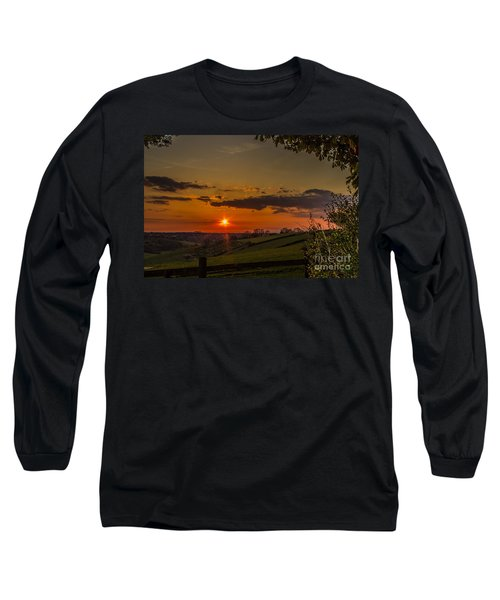 A Beautiful Sunset Over The Surrey Hills Long Sleeve T-Shirt