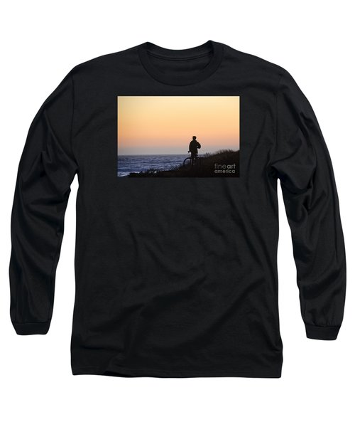 A Boy His Bike And The Beach Long Sleeve T-Shirt