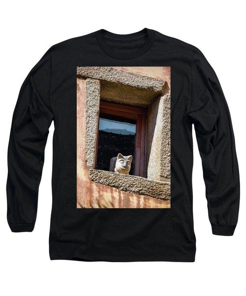 A Cat On Hot Bricks Long Sleeve T-Shirt