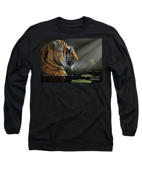 Long Sleeve T-Shirt featuring the digital art A Chance Encounter II by Don Olea
