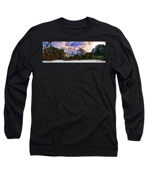 A Cold Yosemite Half Dome Morning Long Sleeve T-Shirt