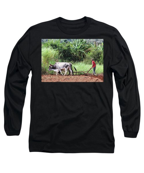 A Cuban Tractor Long Sleeve T-Shirt