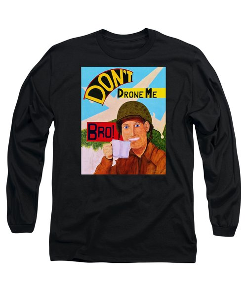 Long Sleeve T-Shirt featuring the painting A Cup Of Joe by Rand Swift