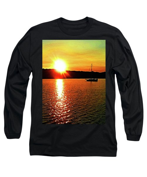 A Early Springtime Visit To Mystic Village In M Long Sleeve T-Shirt