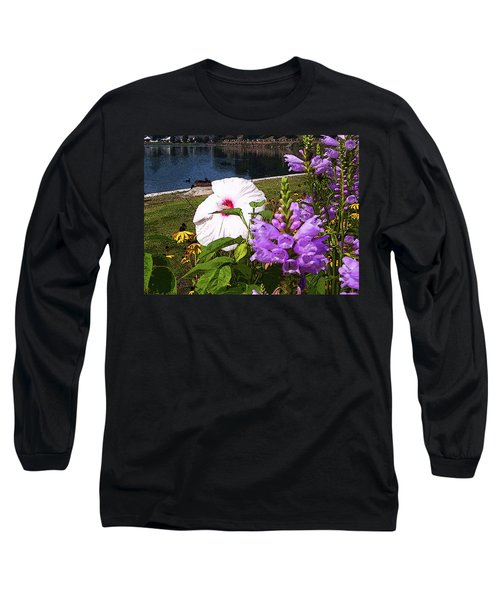 A Flower Blossoms Long Sleeve T-Shirt by B Wayne Mullins