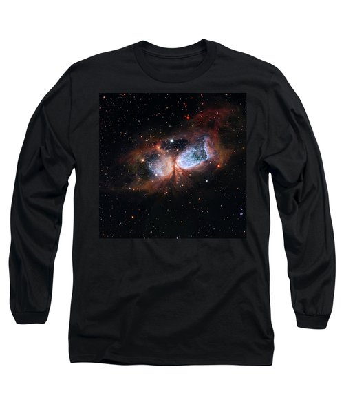 Long Sleeve T-Shirt featuring the photograph A Composite Image Of The Swan by Nasa