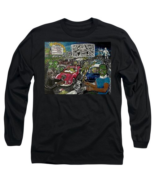 A I P Monster Movie Marathon At The Twilight Drive - In  La Porte Indiana Long Sleeve T-Shirt