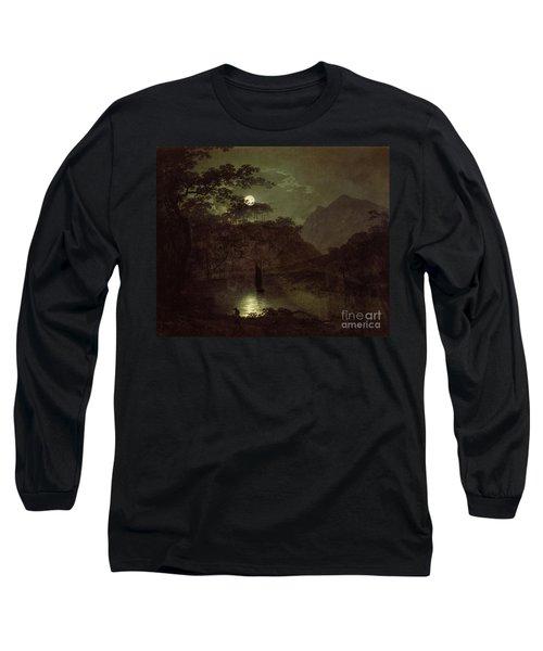 A Lake By Moonlight Long Sleeve T-Shirt