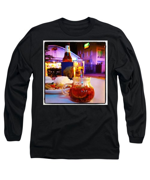 Long Sleeve T-Shirt featuring the photograph A Little Dab Will Do Yah. It's Sliced by Mr Photojimsf