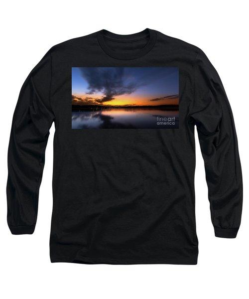 A Misty Sunset On Lake Lanier Long Sleeve T-Shirt