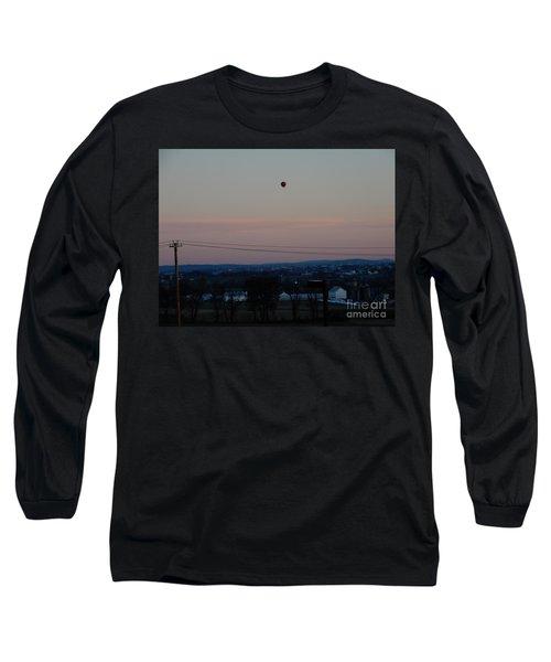 A Morning Hot Air Balloon Ride Long Sleeve T-Shirt