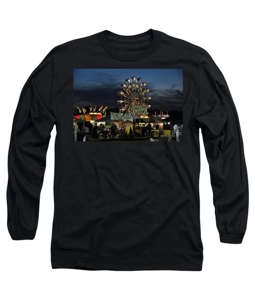Long Sleeve T-Shirt featuring the photograph A Night At The Fair by John Black