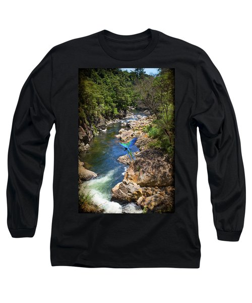 A Parrot In A New Zealand Gorge Long Sleeve T-Shirt