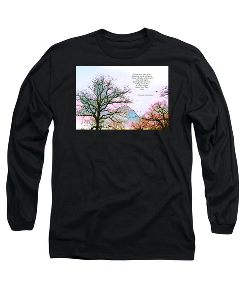 Long Sleeve T-Shirt featuring the photograph A Poem And A Tree I by Carolina Liechtenstein