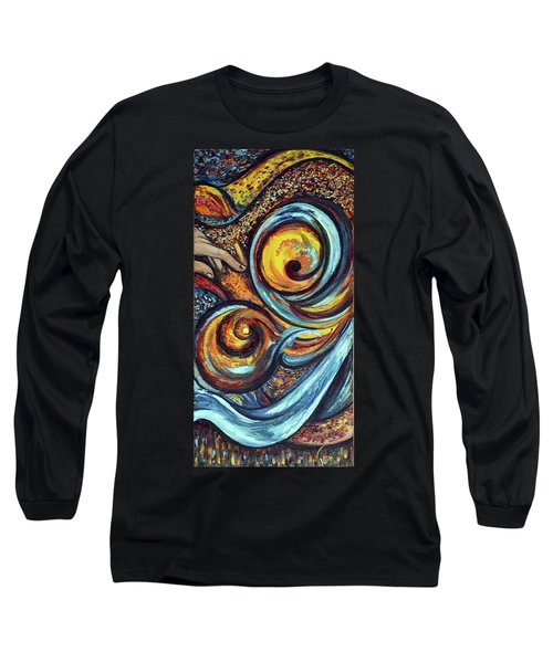 Long Sleeve T-Shirt featuring the painting A Ray Of Hope by Harsh Malik