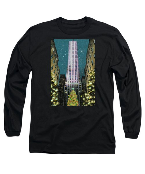 A Rocking Christmas Long Sleeve T-Shirt by Diana Angstadt