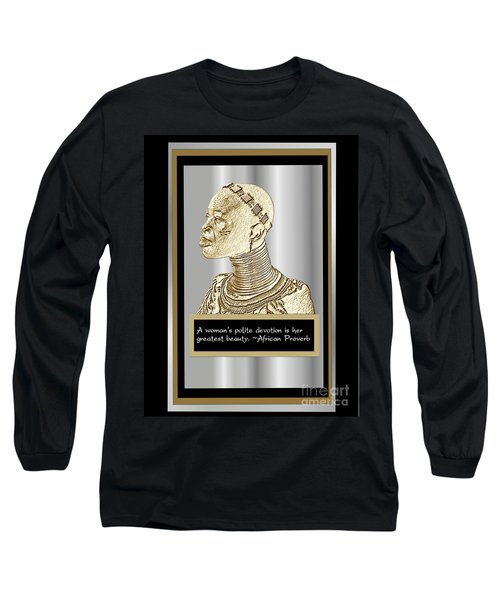 Long Sleeve T-Shirt featuring the digital art A Sisters Portrait 1 by Jacqueline Lloyd