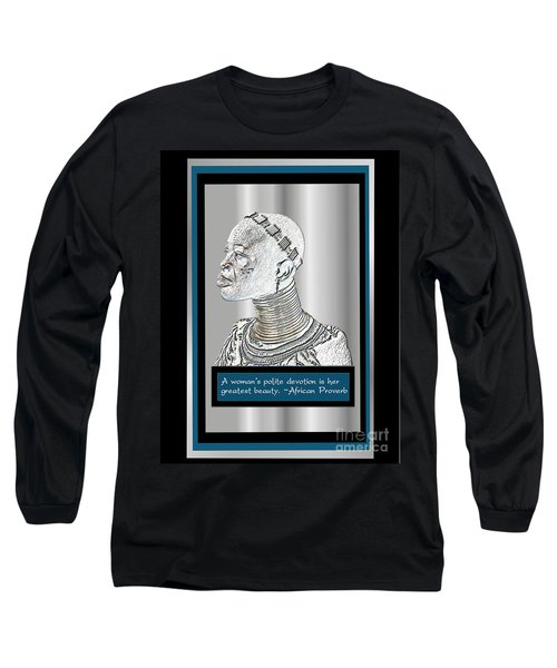 Long Sleeve T-Shirt featuring the digital art A Sisters Portrait 2 by Jacqueline Lloyd