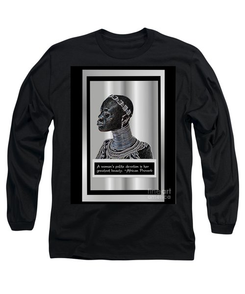 Long Sleeve T-Shirt featuring the digital art A Sisters Portrait by Jacqueline Lloyd