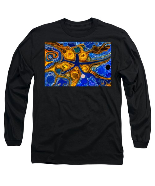 Long Sleeve T-Shirt featuring the painting A Star Is Born by Omaste Witkowski