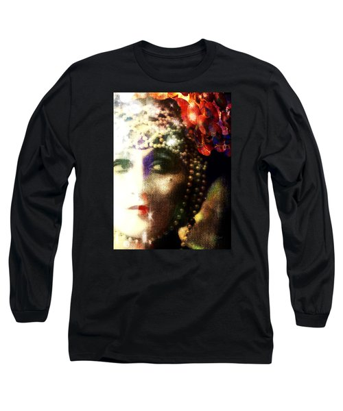 Long Sleeve T-Shirt featuring the digital art A String Of Pearls by Delight Worthyn