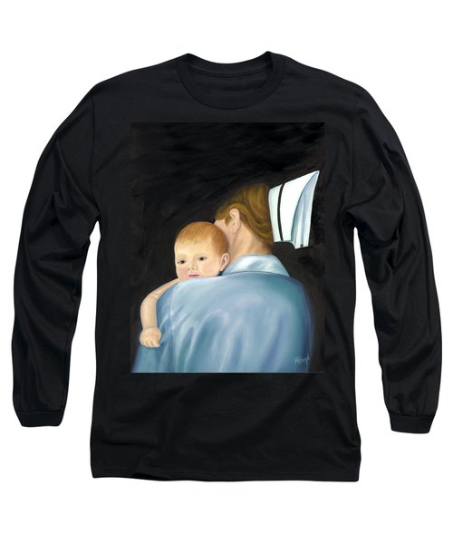 Long Sleeve T-Shirt featuring the painting Comforting A Tradition Of Nursing by Marlyn Boyd