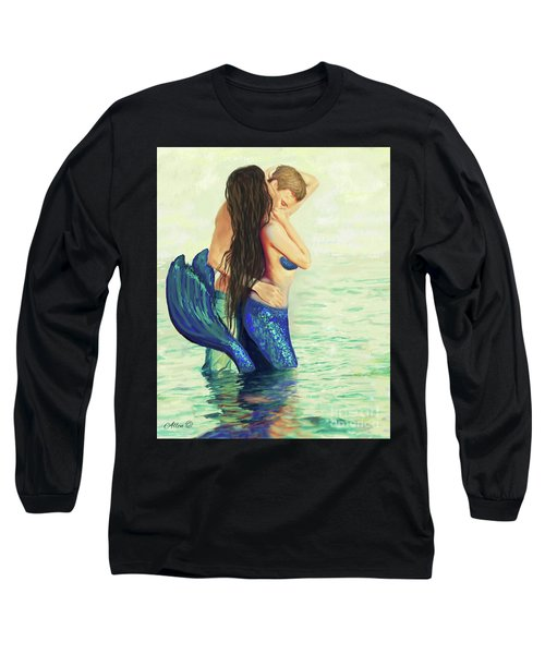 Long Sleeve T-Shirt featuring the painting A Treasured Love by Leslie Allen