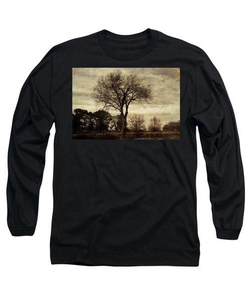 A Tree Along The Roadside Long Sleeve T-Shirt