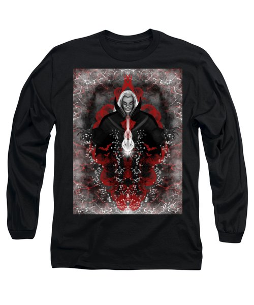 Long Sleeve T-Shirt featuring the painting A Vampire Quest Fantasy Art by Raphael Lopez