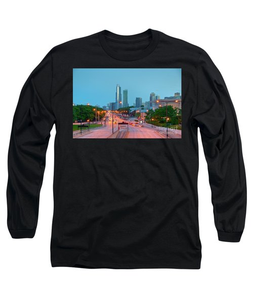 A View Of Columbus Drive In Chicago Long Sleeve T-Shirt