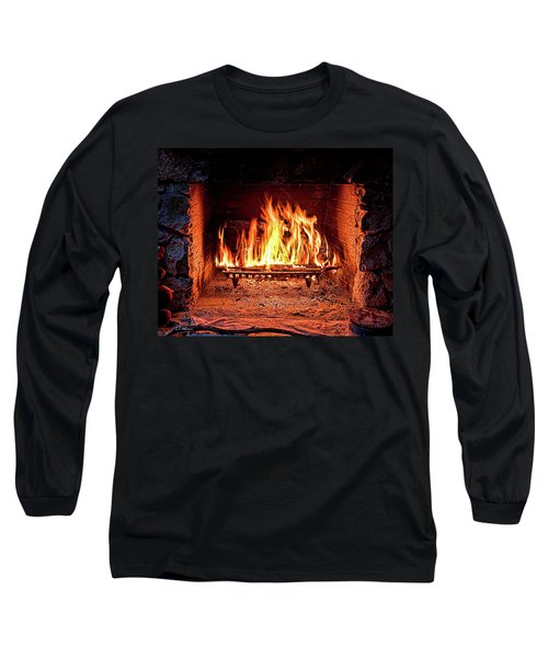 A Warm Hearth Long Sleeve T-Shirt by Christopher Holmes