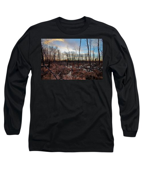 Long Sleeve T-Shirt featuring the photograph A Wet Decay by Ryan Crouse