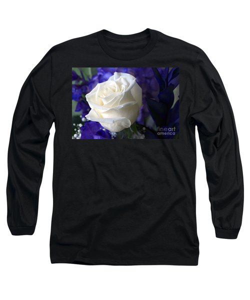 A White Rose Long Sleeve T-Shirt