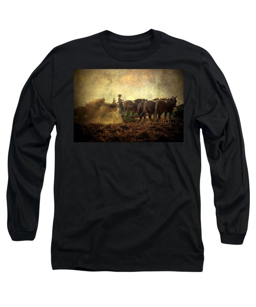 A Woman's Work Is Never Done Long Sleeve T-Shirt by Trish Tritz